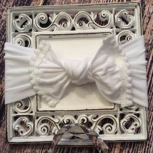 Other - Baby Girls White Knot Bow Headband